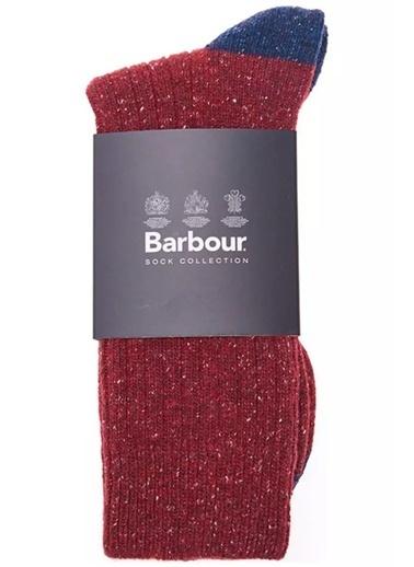 Barbour Houghton Çorap Re75 Red/Navy Lacivert